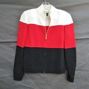 St. John Sport Color Block Wool Blend Jacket
